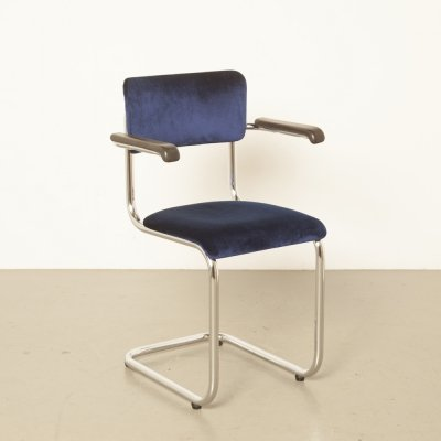 Tubax floating tubular frame chair in blue