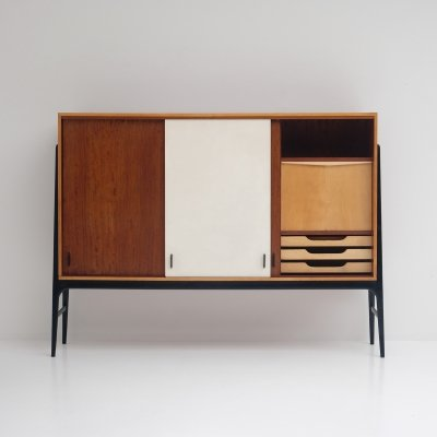 Rare highboard by Alfred Hendrickx for Belform, 1950s
