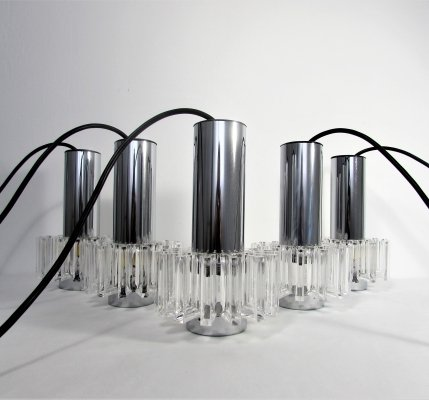 Set of 5 Mid-Century Modern Pendant Lights, 1960s