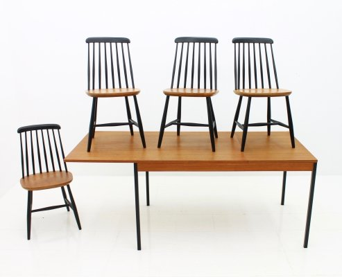 Scandinavian Teak Dining Room Suite by Nesto Sweden, 1950s