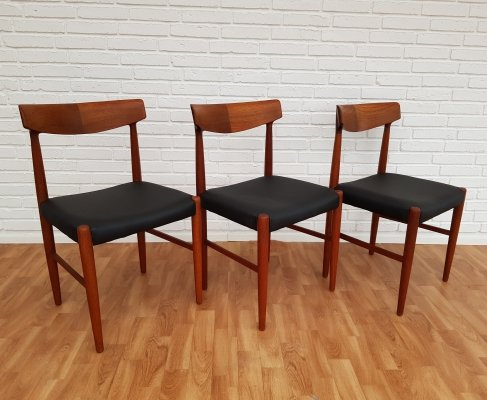 Set of 3 Model 343 dining chairs by Knud Faerch for Slagelse Møbelværk, 1960s