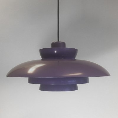 Purple Penta pendant by Jo Hammerborg for Fog & Morup, 1960s