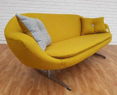 Danish Carry-Yellow 2-Seater Sofa, 1970s