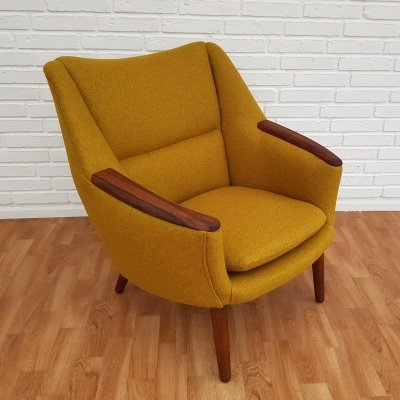 Danish Model 58 Lounge Chair by Kurt Østervig for Rolschau Møbler, 1950s
