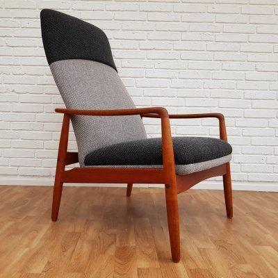 Black & Grey Lounge Chair by Søren J. Ladefoged for Slagelse Møbelværk, 1960s
