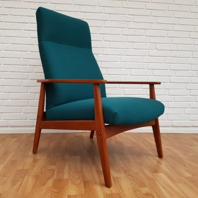 Danish Turquoise Lounge swing chair, 1970s