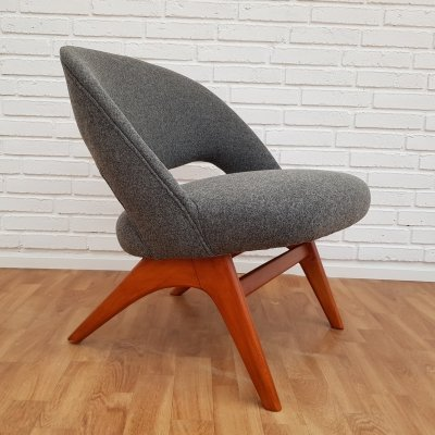 Scandinavian Grey Armchair, 1950s
