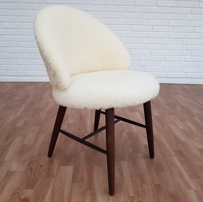 Small Danish Wool Armchair, 1960s