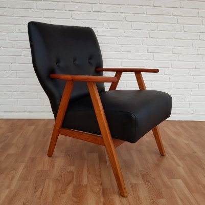 Danish Armchair in leather, 1960s