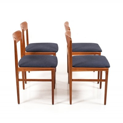 Early set of 4 Danish Dining Chairs in Teak, ca.1948-1950