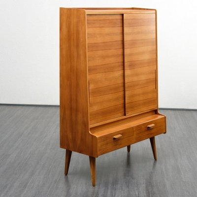 Midcentury high quality highboard in walnut, 1950s