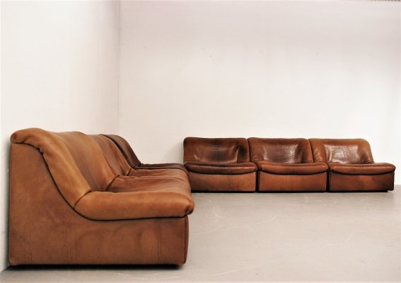 Famous bullhide neckleather DS46 seating group by De Sede Switzerland