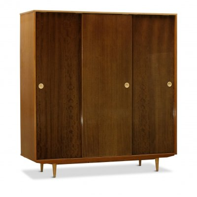 Mid-Century Polished Ash Wardrobe