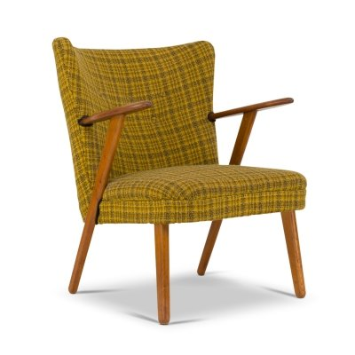 Mid-Century Danish Green Cocktail Chair