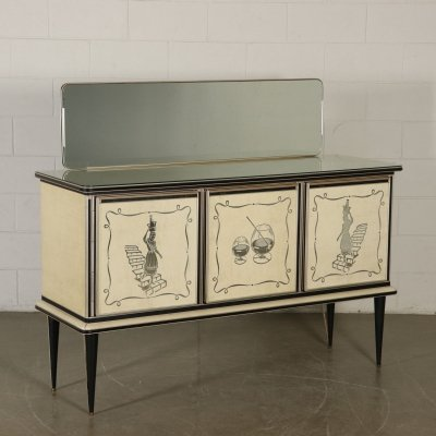 1950s Buffet with Mirror by Umberto Mascagni