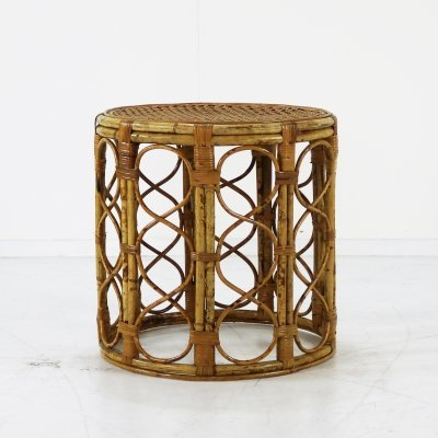 Small rattan side coffee table by Rohé Noordwolde, 1960s