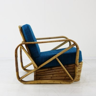 Rattan lounge chair by Paul Frankl, 1960s