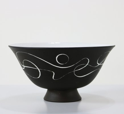 Large ceramic bowl by Zaalberg Holland, 1960s