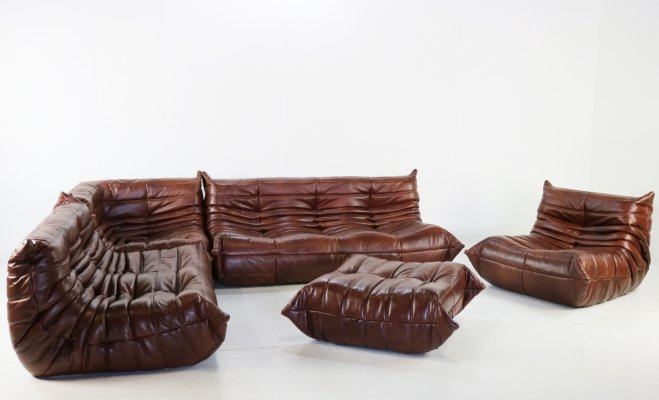 Leather 'Togo' seating group by Michel Ducaroy for Ligne Roset