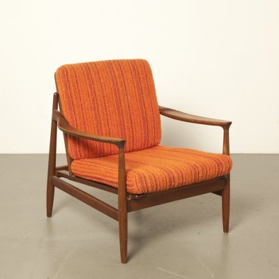 Danish 1950s armchair in red