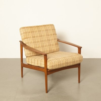 Danish 1950s armchair in beige brown