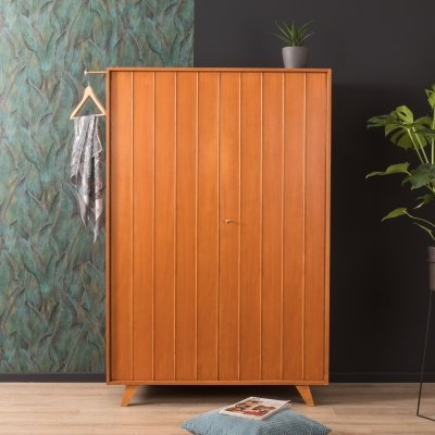 Cherry wood wardrobe by Behr Möbel from the 1950s