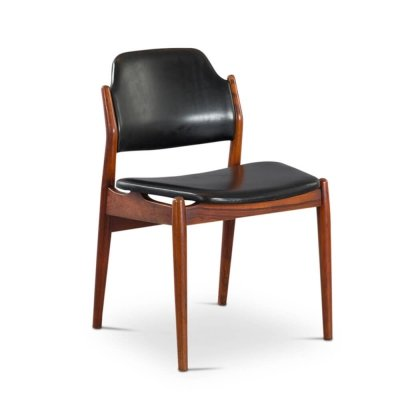 Danish No. 62 Chair in Teak & Leather by Arne Vodder for Sibast, 1950s