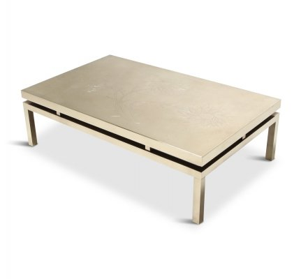 Willy Daro Signed High End Brass Coffee Table, 1970s