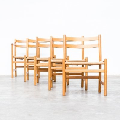 Set of 4 Hans Wegner 'CH47' chairs & a 'CH46' chair for Carl Hansen & Son, 1960s