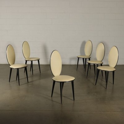 Set of 6 Chairs by Umberto Mascagni, 1950s