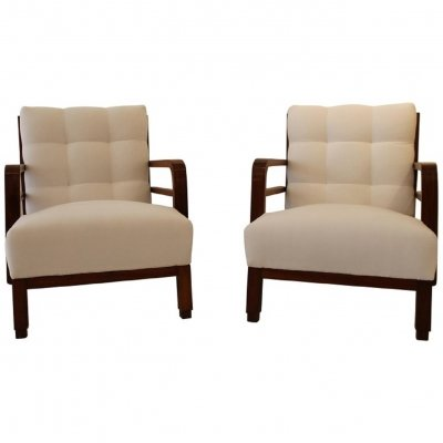 Pair of armchairs by Lajos Kozma, Hungary c.1930