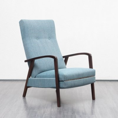 Midcentury relax chair with fold out foot stool, 1960s