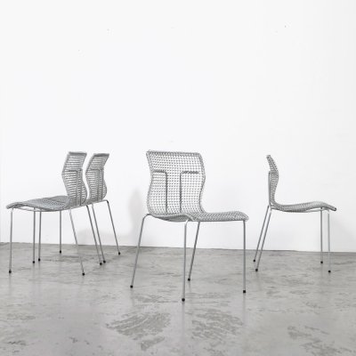 Set of 4 Dining Chairs by Niall O'Flynn for 't Spectrum, 1997