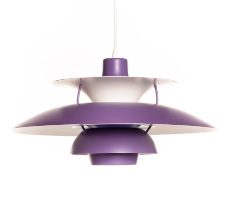 Vintage purple PH5 pendant lamp by Poul Henningsen for Louis Poulsen, 1960's