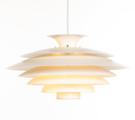 Vintage white Danish design 'Model 52580' Form Light pendant lamp, 1970s