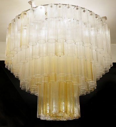 4 x Large Murano Glass Tubes Chandeliers