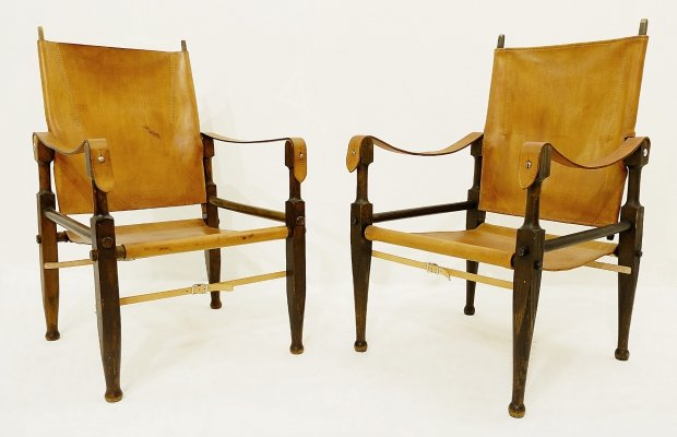 Pair of Safari Chairs by Wilhelm Kienzle for Wohnbedarf, 1950s