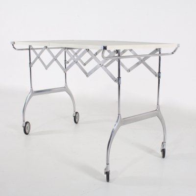 Folding Serving Trolley 'Battista' by Antonio Citterio for Kartell, 1990's