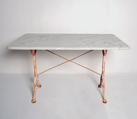 Marble Bistro Table by Godin, France 1950s