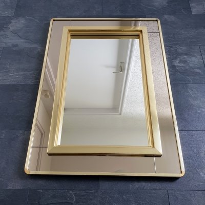 Gold plated mirror by Belgo Chrom with smoked mirror glass