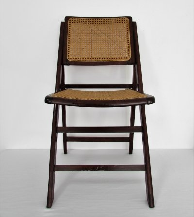 Vintage Cane Folding Chair, 1970's