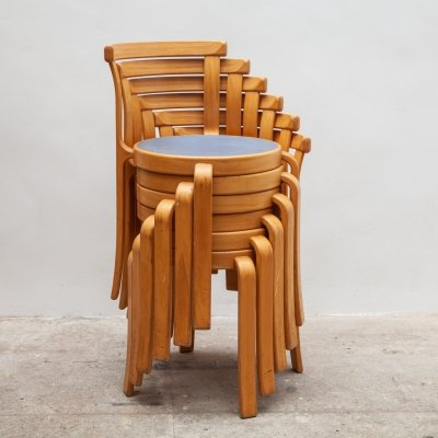 6 x 8000 series dining chair by Johhny Sørensen & Rud Thygesen for Magnus Olesen, 1970s