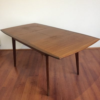 Extendable teak dining table by Louis van Teeffelen, 1960s