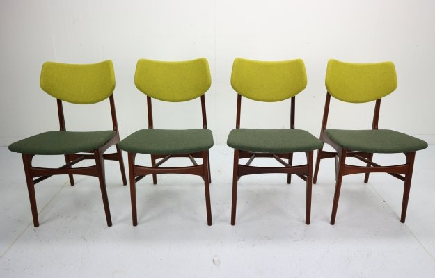 Set of 4 Teak 'Hamar' Dining Chairs by Louis Van Teeffelen for Wébé, 1960s