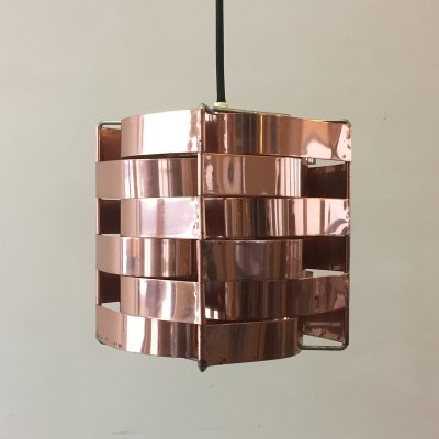 Copper hanging lamp by Max Sauze for Max Sauze Studio, 1970s
