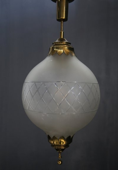 1940s Pendant chandelier by Arredoluce (with original label)