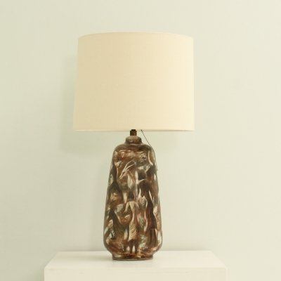 Large Ceramic Table Lamp (Signed Casas), 1950's