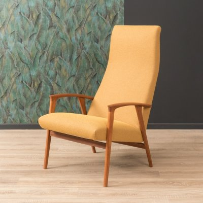 Lounge chair in mustard color, 1960s