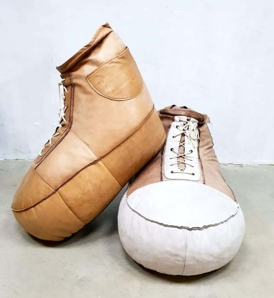 Vintage De Sede leather sneaker beanbags