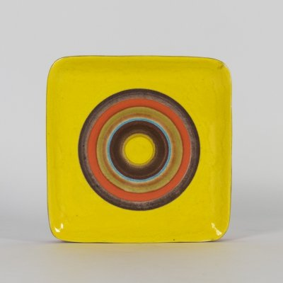 Large Striped Centerpiece or Wall Plate by Guido Gambone, 1950s